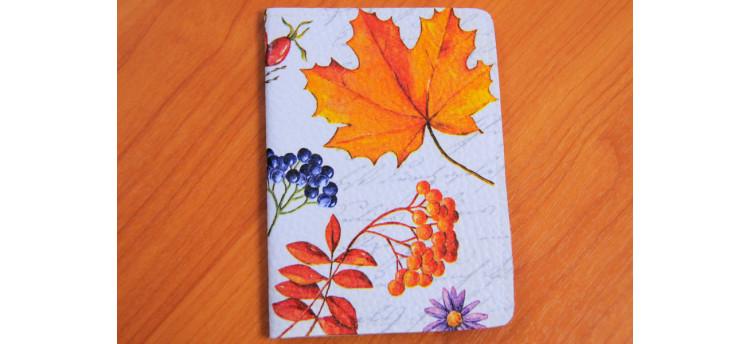 ปกพาสปอร์ต (leaves & berries)