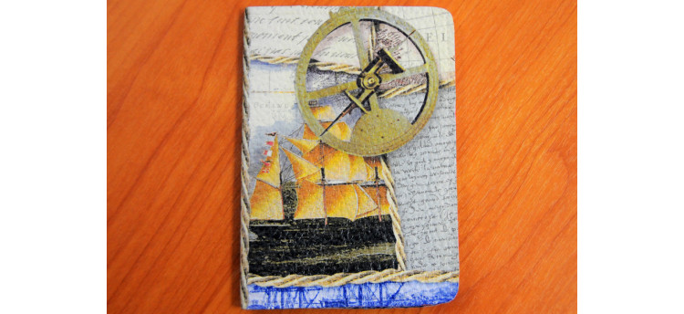 ปกพาสปอร์ต (ship&compass)
