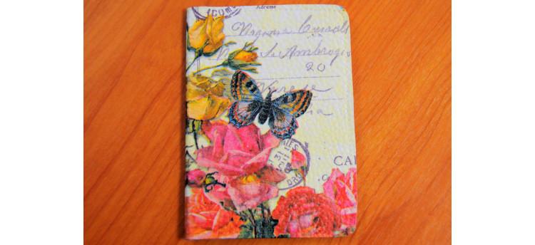 ปกพาสปอร์ต (flower&butterfly)